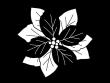 ポインセチアの白黒イラスト
