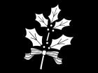 ヒイラギの飾りの白黒イラスト02