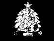 クリスマスツリーの白黒イラスト04