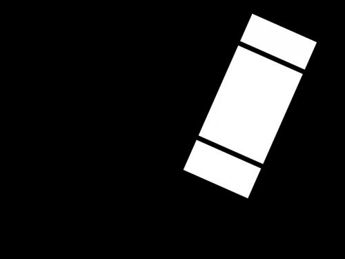 クレヨンで描いている白黒イラスト