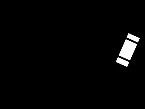 クレヨンで描いている白黒イラスト02