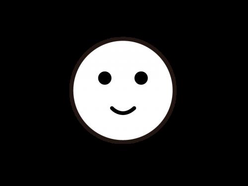 かわいい笑顔の太陽の白黒イラスト03