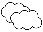 雲の白黒イラスト