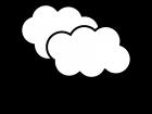 雨の天気の白黒イラスト
