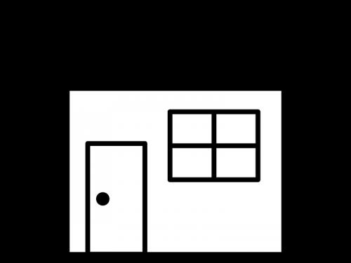 家の白黒イラスト03