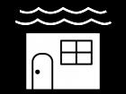 家の白黒イラスト04