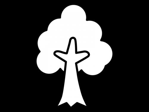 木の白黒イラスト02