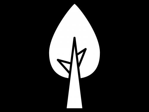 木の白黒イラスト03 かわいい無料の白黒イラスト モノぽっと
