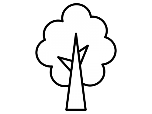 木の白黒イラスト04