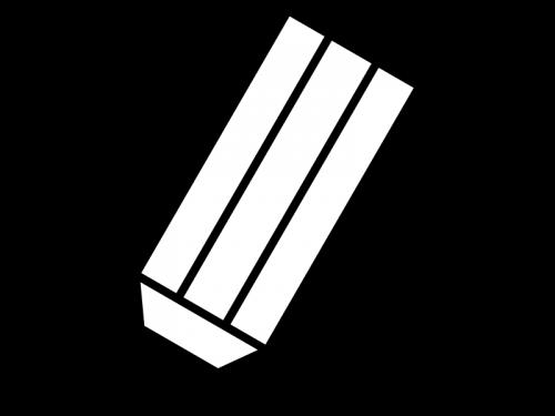 鉛筆の白黒イラスト