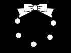 クリスマスリースの白黒イラスト02
