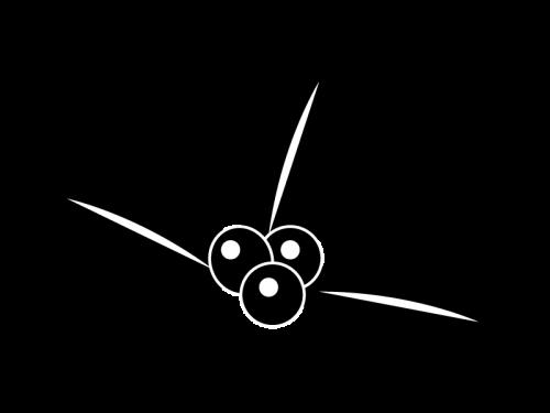 クリスマス・ヒイラギの白黒イラスト03