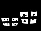 プレゼント箱の白黒イラスト02