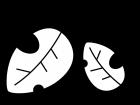 落ち葉・枯葉の白黒イラスト03