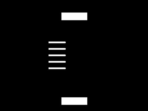縦長の提灯の白黒イラスト02