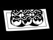 たこ焼きの白黒イラスト03