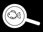 金魚すくいの白黒イラスト