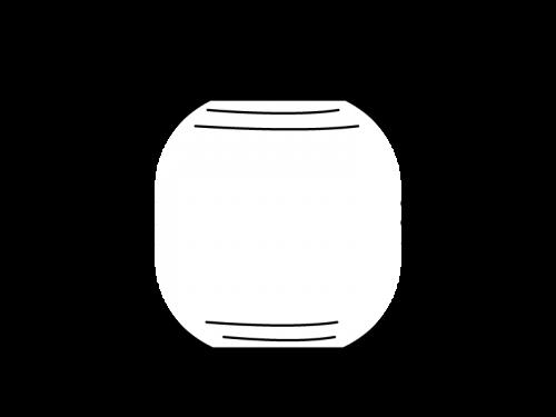 お祭り・提灯の白黒イラスト04