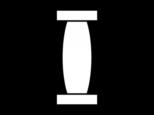 お祭り・提灯の白黒イラスト