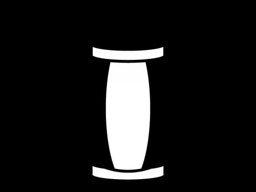 お祭り・提灯の白黒イラスト02