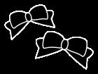リボンの白黒イラスト02