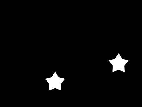 星飾りの白黒イラスト
