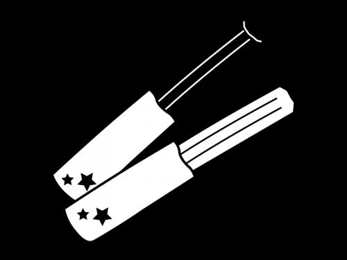 チュロスの白黒イラスト02
