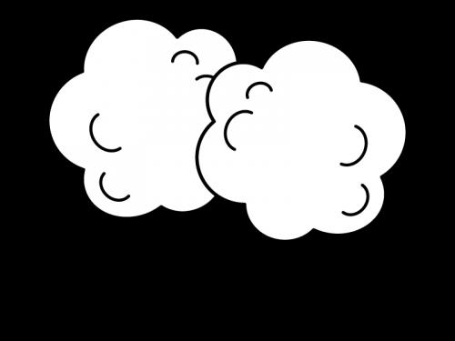 わたあめ・綿菓子の白黒イラスト02