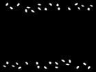 蔦と葉っぱのフレーム・枠の白黒イラスト02