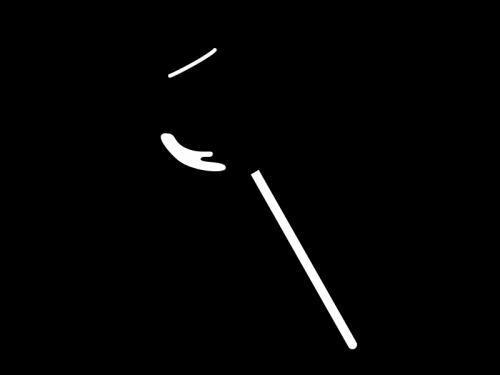 りんご飴の白黒イラスト