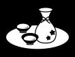 甘酒の白黒イラスト02