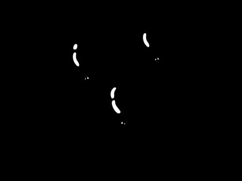 風船の白黒イラスト02