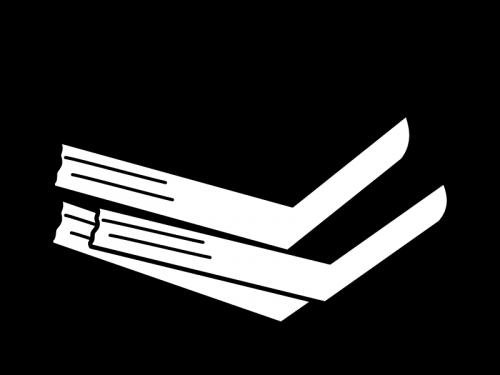 本の白黒イラスト