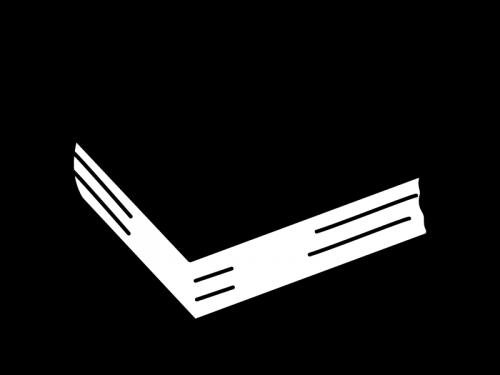 厚い本の白黒イラスト
