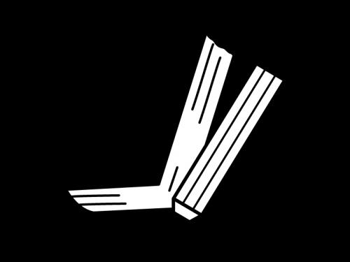 本とペンの白黒イラスト