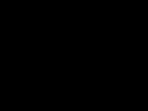 12月タイトル・サンタクロースとトナカイの白黒イラスト