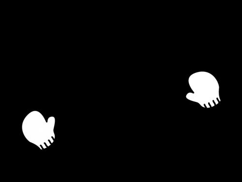 2月タイトル・雪の結晶の白黒イラスト