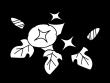 朝顔(あさがお)の白黒イラスト02