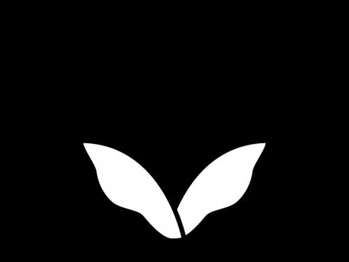 チューリップの白黒イラスト04