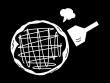 お好み焼きの白黒イラスト02