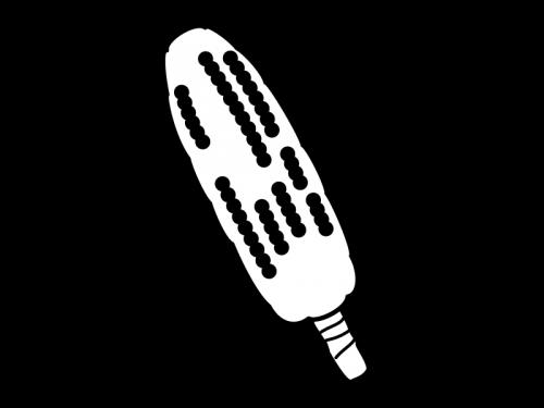 焼きもろこしの白黒イラスト02