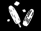 焼きもろこしの白黒イラスト03