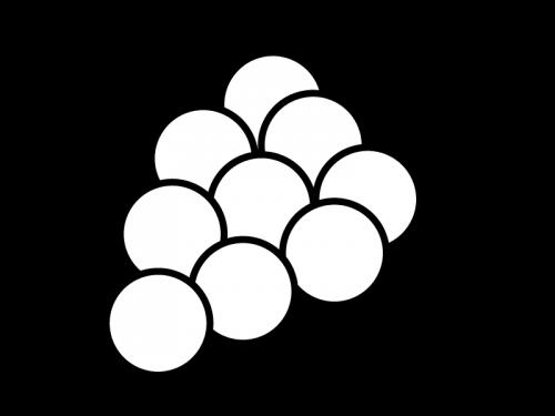 葡萄の白黒イラスト
