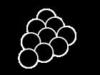 葡萄・巨峰の白黒イラスト