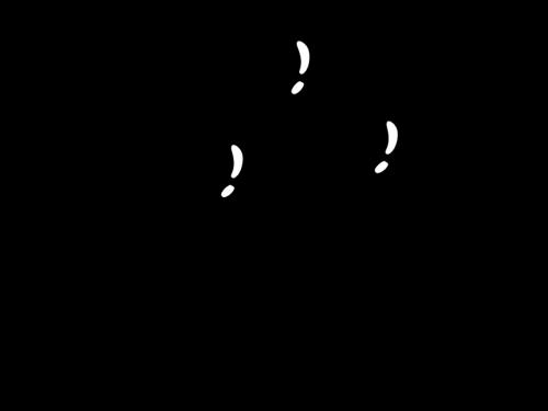 ハートの風船の白黒イラスト