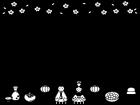 お雛様とお内裏様のひな祭りフレーム・枠の白黒イラスト02