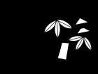7月タイトル・七夕の白黒イラスト