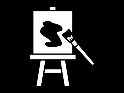 絵画・デッサンの白黒イラスト