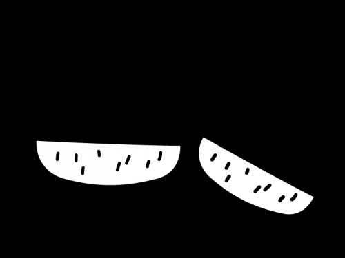 栗の白黒イラスト02