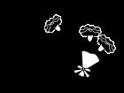 5月タイトル・母の日のカーネションの白黒イラスト